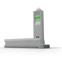 Kit USB Type C port blocker green