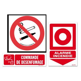 Panneaux d'interdictions et d'avertissements (ROUGE)