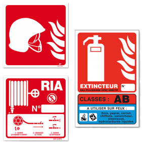 Fire control signs (RED)