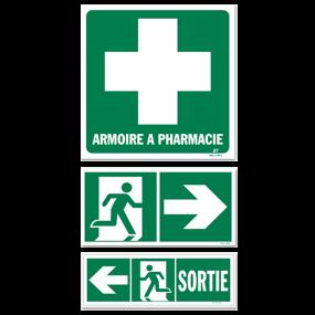 Panneaux de signalisation d'évacuation (VERT)