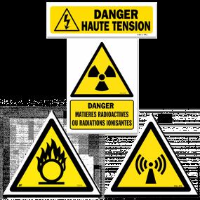 Warning and hazard signs (YELLOW)