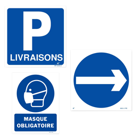 Mandatory information signs (BLUE)