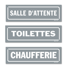 Signposting signs on premises (GREY)