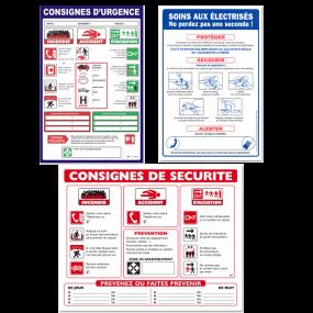 Panneaux de consignes générales et spécifiques
