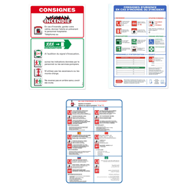Hotel and Hospital safety signs