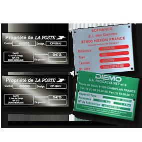 Plaques constructeur - SBE Direct