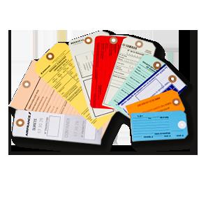 Étiquettes américaines en carton et ficelle rayonne
