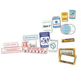 Etiquettes de sécurité adhésives vierges et imprimées - SBE Direct