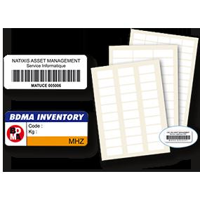 Etiquette d'inventaire en polyester et en polyéthylène