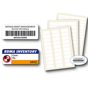 Low price asset labels - SBE Direct
