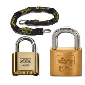 chaine et cadenas clé passe et clé unique