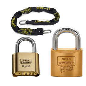 Safety chain and pass key padlock and single-key padlock