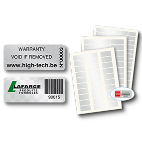Security Asset Labels - SBE Direct