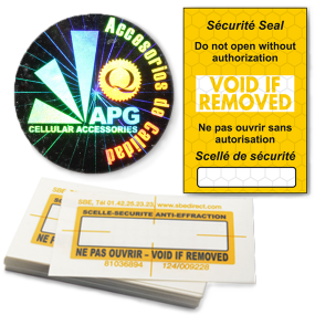 Authentification Labels & Seals - SBE Direct