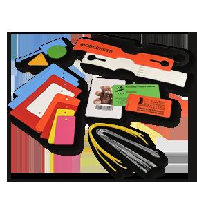 Plaque d'identification pour industrie: plaques PVC ou acier