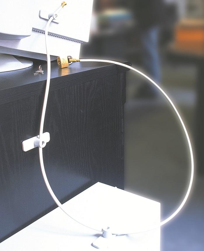 systeme-antivol-acier-haute-sécurité-fixation-ordinateur-cable