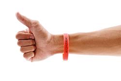 Orange-silicone-event-wristband