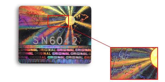hologramme-etiquette-point-effraction-holographique-adhesif-étiquette