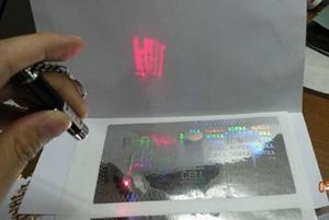 Laser révélant un texte ou image caché