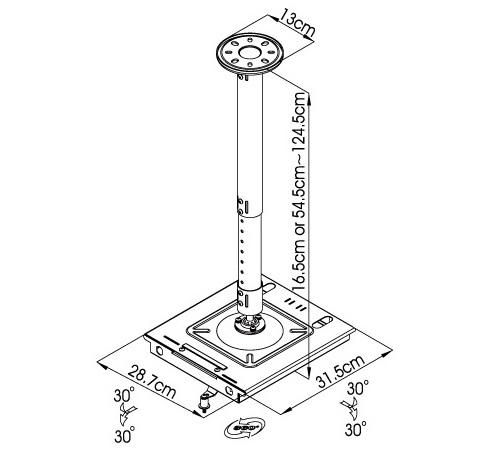 dimensions-antivol-vidéoprojecteur