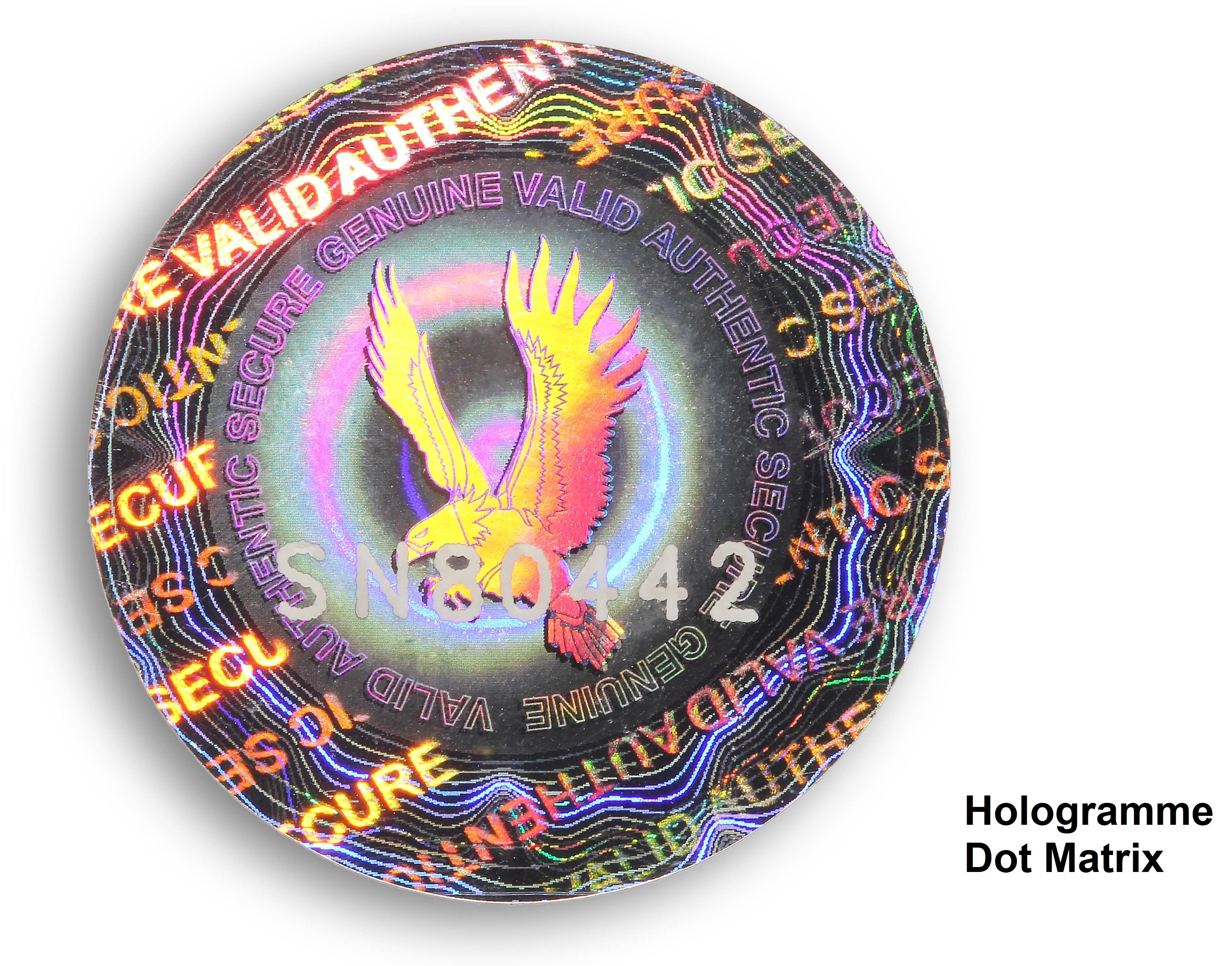 Dot Matrix-hologram-label-adhesive-holographic-label