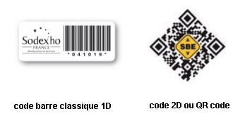 code-barre 1D et QR code catalogue SBE direct