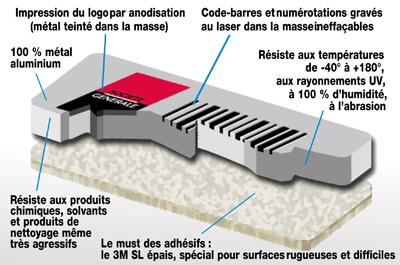 plaque-constructeur-aluminium-firme-propriete-3M-ultra-souple-metal-etiquette-laser