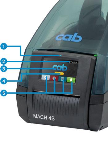 Imprimante transfert thermique CAB MACH 4S