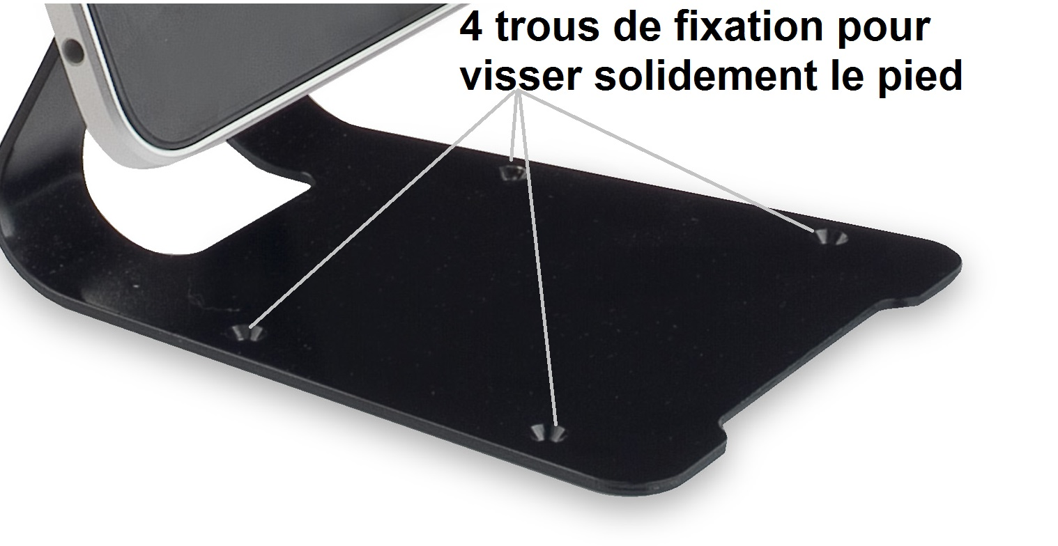 support-antivol-ipad-trous-fixation-tablette