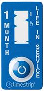 etiquette indicateur temps un mois couleur bleue timestrip