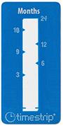 etiquette indicateur temps bleue timestrip