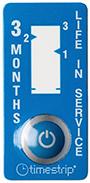 etiquette indicateur temps trois mois couleur bleue timestrip