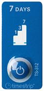 etiquette indicateur temps sept jours couleur bleue timestrip