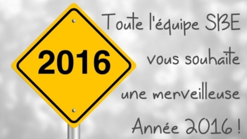 sbe vous souhaite bonne annee 2016